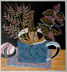Patterned Mug and Flora by BetsySpeck on Etsy, £45.00