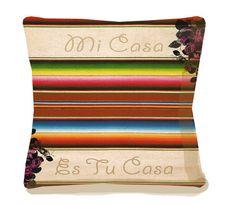 Mi Casa Es Tu Casa  Mexicana Accent Pillow  Spanish by arribachica, $37.00