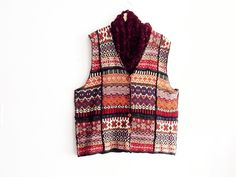 Plus Size Knitted Patchwork Vest by KheGreen on Etsy