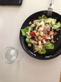 so good and yes, usually in my pictures my salads are quite big but u know, im 13 and when you exercise a lot, and i mean a lot you have to eat a lot.. i see pictures where there is food so less you can barely see it...