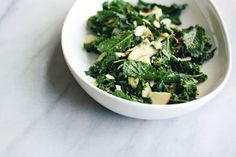 Kale salad with miso tahini dressing