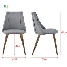 Elegantná a štýlová čalúnená stolička ABCS-3500 sa hodí k jedálenskému stolu, do pracovne alebo všade tam, kde je potrebné niekoho pohodlne usadiť. Výška: 83 cm, šírka: 50 cm, hĺbka: 53 cm, výška sedáku: 46 cm. Textilné čalúnenie - 100% polyester, stabilné a pevné kovové nohy - imitácia dreva. 2 ks balenie, produkt značky [en.casa]