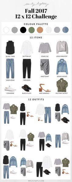 Fall 12 x 12 Challenge // Emily Lightly - Capsule wardrobe, minimalist fall style