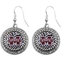 Mississippi State Bulldogs Womens Zebra Twisted Rope Earrings@Fanatics #FanaticsWishList