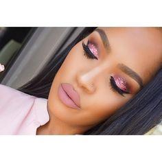 "SHAYLA on Instagram: "" @eyekandycosmetics glitter on the eyes. @colouredraine ""Mars"" liquid lipstick"""
