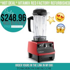 HOT DEAL GET THIS VITAMIX now (15 left)  this certified refurbished New get it click the link in my bio @tomorrowsmom . FACEBOOK Friends click here: http://ift.tt/2aIdDPm . #frugal #savings #deals #cosmicmothers #feminineenergy #loa #organic #fitmom #health101 #change #nongmo #organiclife #crunchymama #organicmom #gmofree #organiclifestyle #familysavings #frugal #healthyhabits #lifechanging #fitpeople #couponcommunity  #healthyppl #motherhood #organiccouponing #vegan