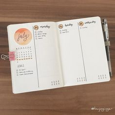 """443 Likes, 5 Comments -  BujoGinger  (@bujoginger) on Instagram: """"Next week I will move my timeladder back in my A5 Bulletjournal so I only needed a minimalistic…"""""""