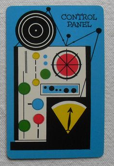 SPACE O Outer Space Playing Game Cards Midcentury