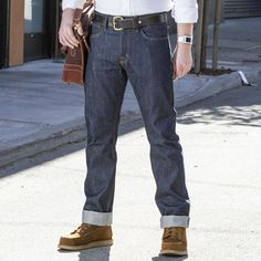 Boardwalk Straight 1877 Raw 14 oz Jeans - Massdrop