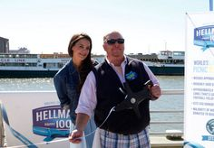 Chef Mario Batali and Katie Holmes at Hellmann's 100th birthday celebration in NYC