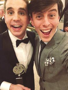 Ben Platt and Thomas Sanders at Tony Awards 2017 the smolest beans
