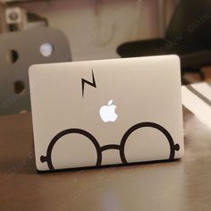 glasses boy- Decal laptop Stickers macbook decal macbook pro decal macbook air decal 1040. $8.99, via Etsy.