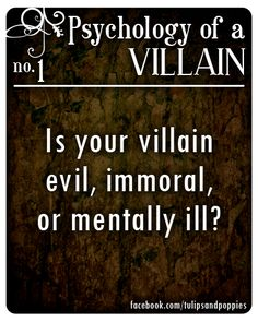 Psychology of a Villain - No. 1 #writersblock Click the photo to follow the story of two sisters who are also writing partners