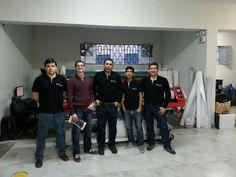 Sergio junto al equipo tecnico de Cams