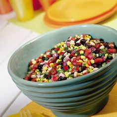 Corny Bean Salad: Not sure the kids will eat it, but I think it looks amazing Corn And Bean Salad, Soup And Salad, Bean Salad Recipes, Bean Salads, Picnic Foods, Picnic Recipes, Picnic Ideas, Dinner Recipes, Cooking Recipes