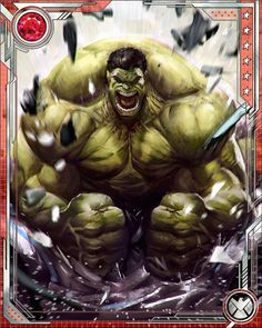 #Hulk #Fan #Art #Card. (Uncontrollable Hulk. Ultimate Rare: When the Hulk gets a head of steam up, there are very few things on this world that can stop him. He get stronger when he's angrier, and his anger becomes its own fuel, driving him to more and more destruction until eventually it burns itself out.)(THE * 5 * STÅR * ÅWARD * OF: * AW YEAH, IT'S MAJOR ÅWESOMENESS!!!™)[THANK U 4 PINNING!!!<·><]<©>ÅÅÅ+(OB4E)