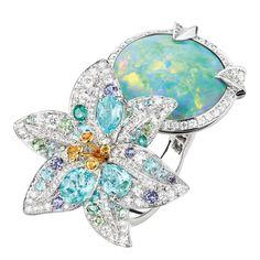 La Nature de Chaumet high jewellery Australian black opal ring