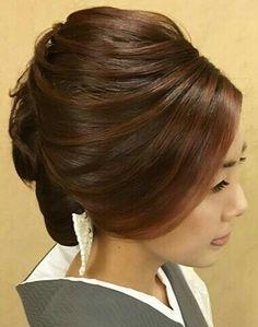 Up Hairstyles, Wedding Hairstyles, Bouffant Hair, Hair Arrange, Japanese Hairstyle, Hair Affair, Bridesmaid Hair, Hair Dos, Blonde Hair
