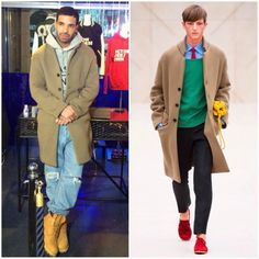 Drake in Burberry Prorsum http://www.whats-he-wearing.com/2014/03/Drake-in-Burberry-Prorsum-Octobers-Very-Own-Browns-Launch.html