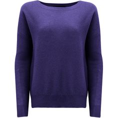 360 SWEATER Lari Cashmere Sweater - Amethyst ($330) ❤ liked on Polyvore featuring tops, sweaters, amethyst, blue sweater, cashmere sweaters, 360 sweater, cashmere tops and blue cashmere sweater