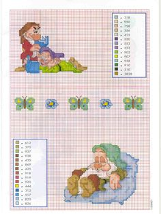 Grumpy and Dopey And Sleepy Cross Stitches
