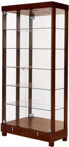 Cristaleira 2095 Dupla 80cm com gavetas e luminária - SADEMI