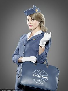 Air hostess: Margot has an affiliation with all things plane as she starred in period drama Pan Am from 2011 to 2012