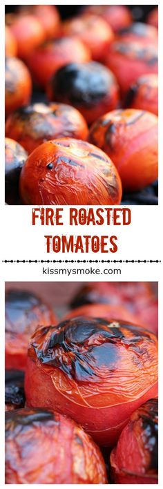 Fire Roasted Tomatoes are perfect for making homemade recipes like pasta, salsa, sauce, chili and soup. If you've ever wondered how to make your own fire roasted tomatoes on the grill, this recipe is for you! #grill #tomatoes #fireroasted #bbq #grillrecipes Vegetable Side Dishes, Vegetable Recipes, Tomato Vegetable, Barbecue Recipes, Grilling Recipes, Outdoor Cooking Recipes, Fire Roasted Tomatoes, Homemade Desserts, Dessert Recipes