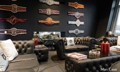 build your own cigar lounge in your house! Good Cigars, Cigars And Whiskey, Zigarren Lounges, Cigar Art, Cigar Club, Cigar Room, Pipes And Cigars, Man Cave Home Bar, Luxury Real Estate