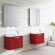 Mueble de ba o dos muebles en nogal blanco con gris hielo - Muebles de bano pequenos ...