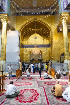 The shrine of Imam Abbas, peace be upon him  Karba by rasoulali.deviantart.com on @deviantART