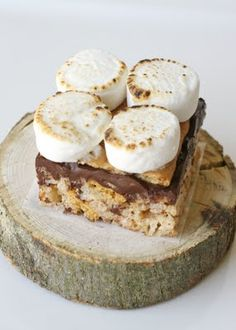 S'mores Rice Crispy Treats...I've died and gone to heaven