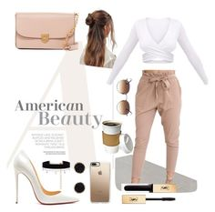 """""""American Beauty"""" by kpartserniak on Polyvore featuring WithChic, Diane Kordas, Christian Louboutin, Cole Haan, Casetify, Ray-Ban, ASOS, Humble Chic and Yves Saint Laurent"""