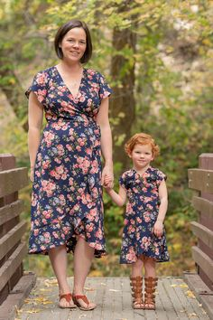 4966753a0cec Mommy and Me Boardwalk Dress Sewing Pattern Release and Sale Mommy And Me  Dresses, Mommy