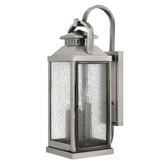 Revere Pewter 22-Inch Three-Light Outdoor Wall Lantern