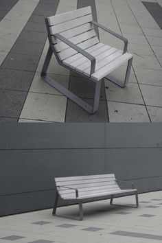 MAYFIELD streetfurniture by miramondo offers it both: A classic and clean look but at the same time it carries a sweet hint of coolness within its lines. Urban Furniture, Street Furniture, Sustainable Furniture, Sustainable Design, Outdoor Chairs, Outdoor Furniture, Outdoor Decor, Urban Life, Urban Planning