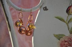 Crea Copine Collection - Earrings with rosé and crystal beads - Unique and handmade - Ordernumber CC-14-052 (Oorringen met rosé en kristallen kralen - Uniek en handgemaakt - Bestelcode CC-14-052) - 10 euro + shipping costs