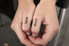 Love and fear #tattoo