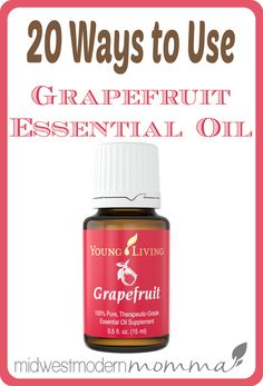 Grapefruit Essential Oil is used for everything from cleaning to diaper rash, from warts to dandruff! Here are my favorite 20 Grapefruit Essential Oil Uses!