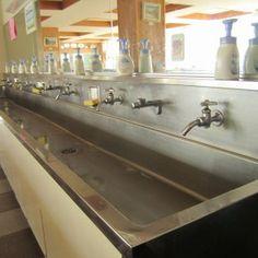 Public restroom ideas on pinterest restroom design - Commercial trough sinks for bathrooms ...