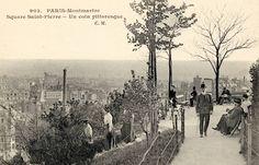 Le square St Pierre à Montmartre en 1909@ Casas Rodriguez collection ....reépinglé par Maurie Daboux ❥•*`*•❥