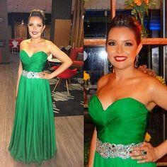 Meire Alves vestido verde