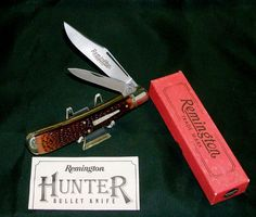 "Vintage Remington UMC R1263 Bullet Knife ""The Hunter"" Circa-1986 USA 5-3/8"" Closed W/Packaging @ ditwtexas.webstoreplace.com"
