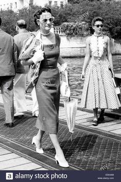 Socialite Wallis Simpson on vacation in Venice.