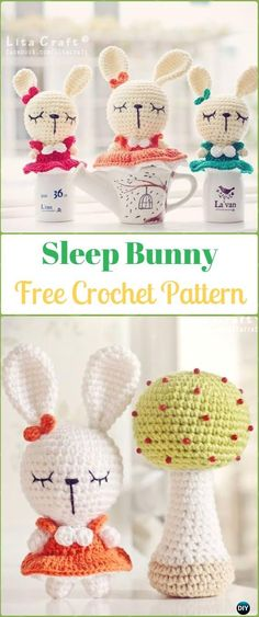 Amigurumi Crochet Sleep Bunny Free Pattern - Crochet Amigurumi Bunny Free Patterns