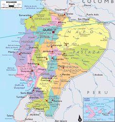 Ecuador road map Maps Pinterest Ecuador