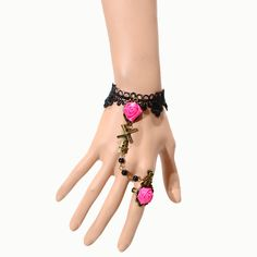 BR9002 Nice Fashion Cheap Lace Bracelet Connected Jewelry For Women Free Shipping-in Charm Bracelets from Jewelry & Accessories on Aliexpress.com | Alibaba Group