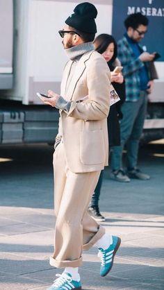 Photo by Ko Tsuchiya Best Mens Fashion, Love Fashion, Fashion Outfits, Fashion Design, Looks Cool, Men Looks, Men Street, Street Wear, Urban Fashion