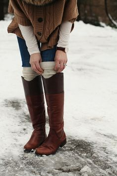 love winter dressing by jum jum. #laylagrayce #winter #fashion. Make these boot cuffs :)