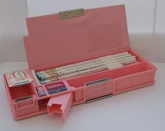 vintage writing case plastic red - Google Search